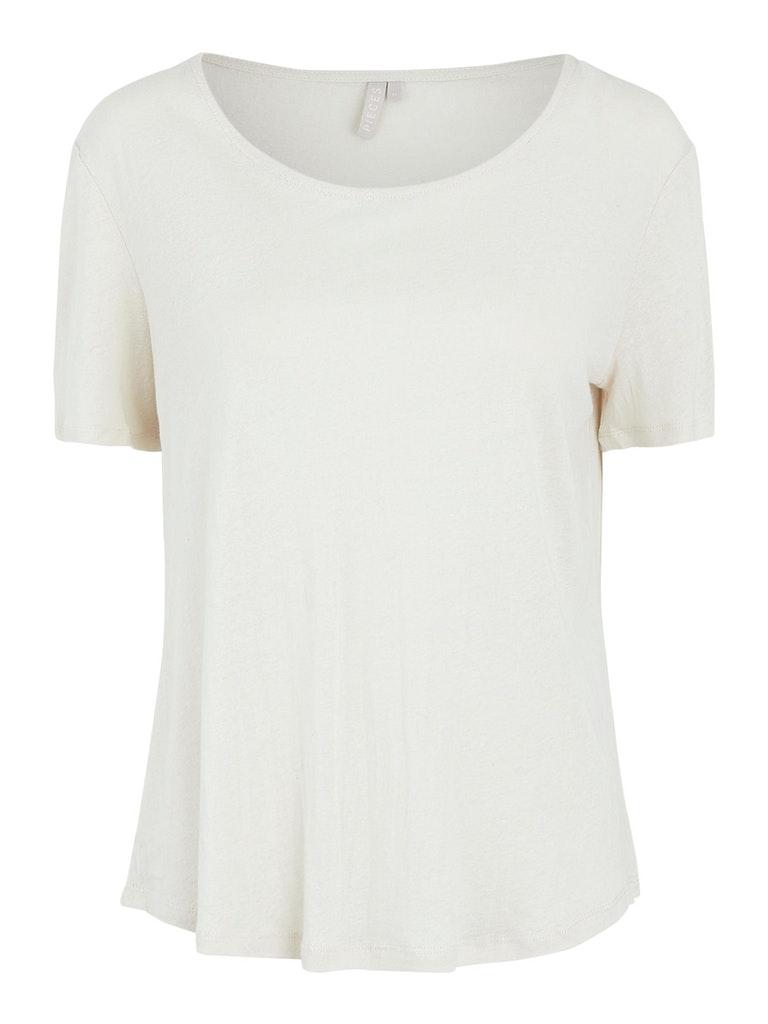 Regular Fit T-Shirt aus Modal und Leinen