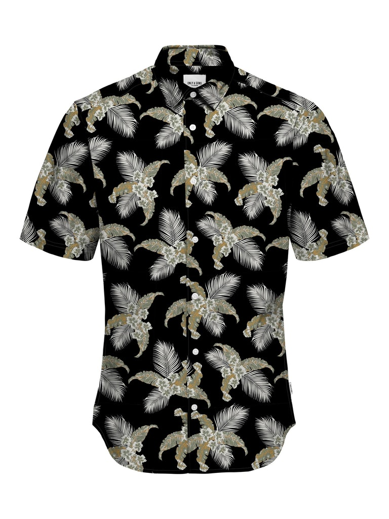 Kurzarm Hemd mit allover Print