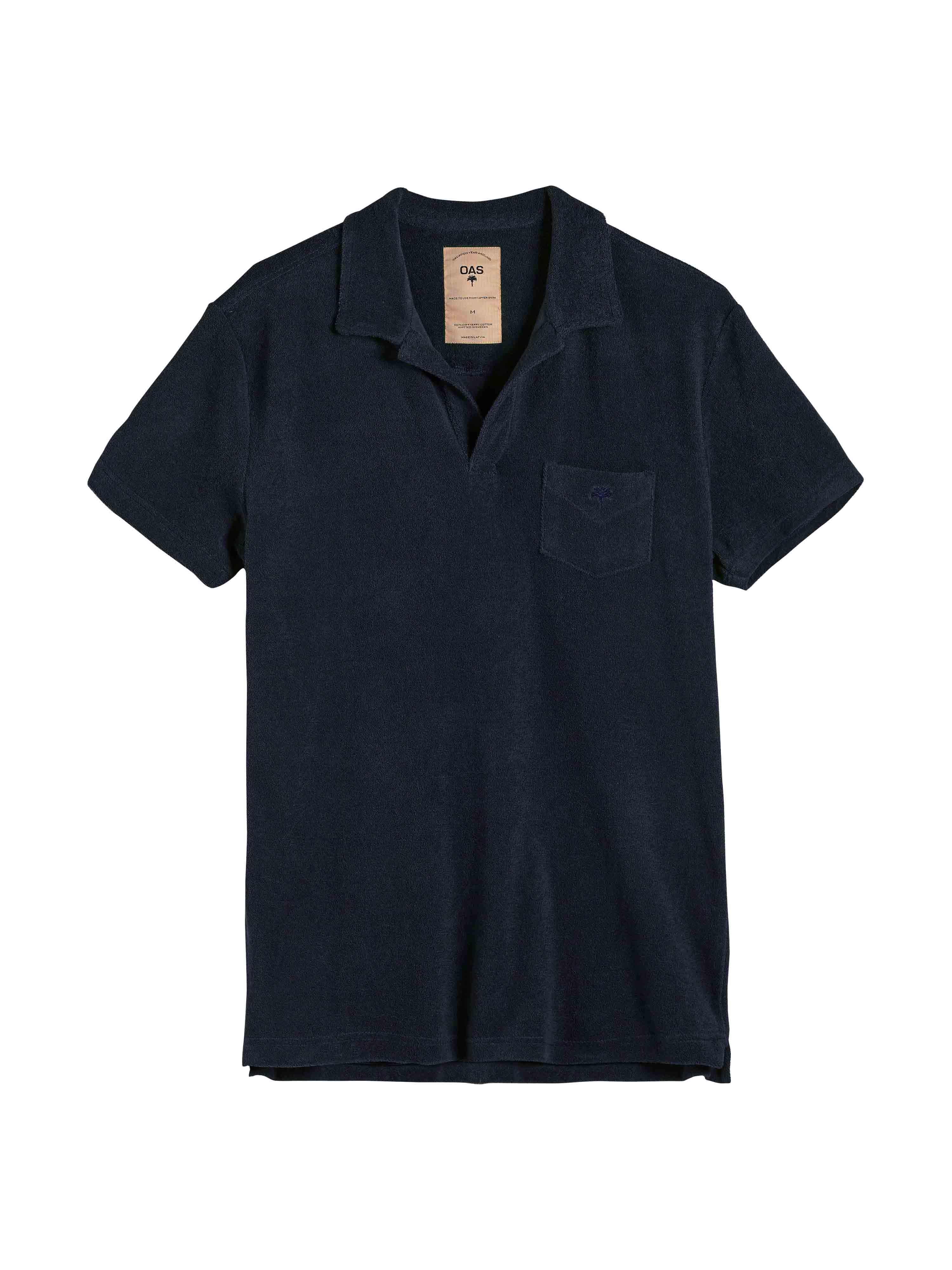 Solid Navy Terry Shirt