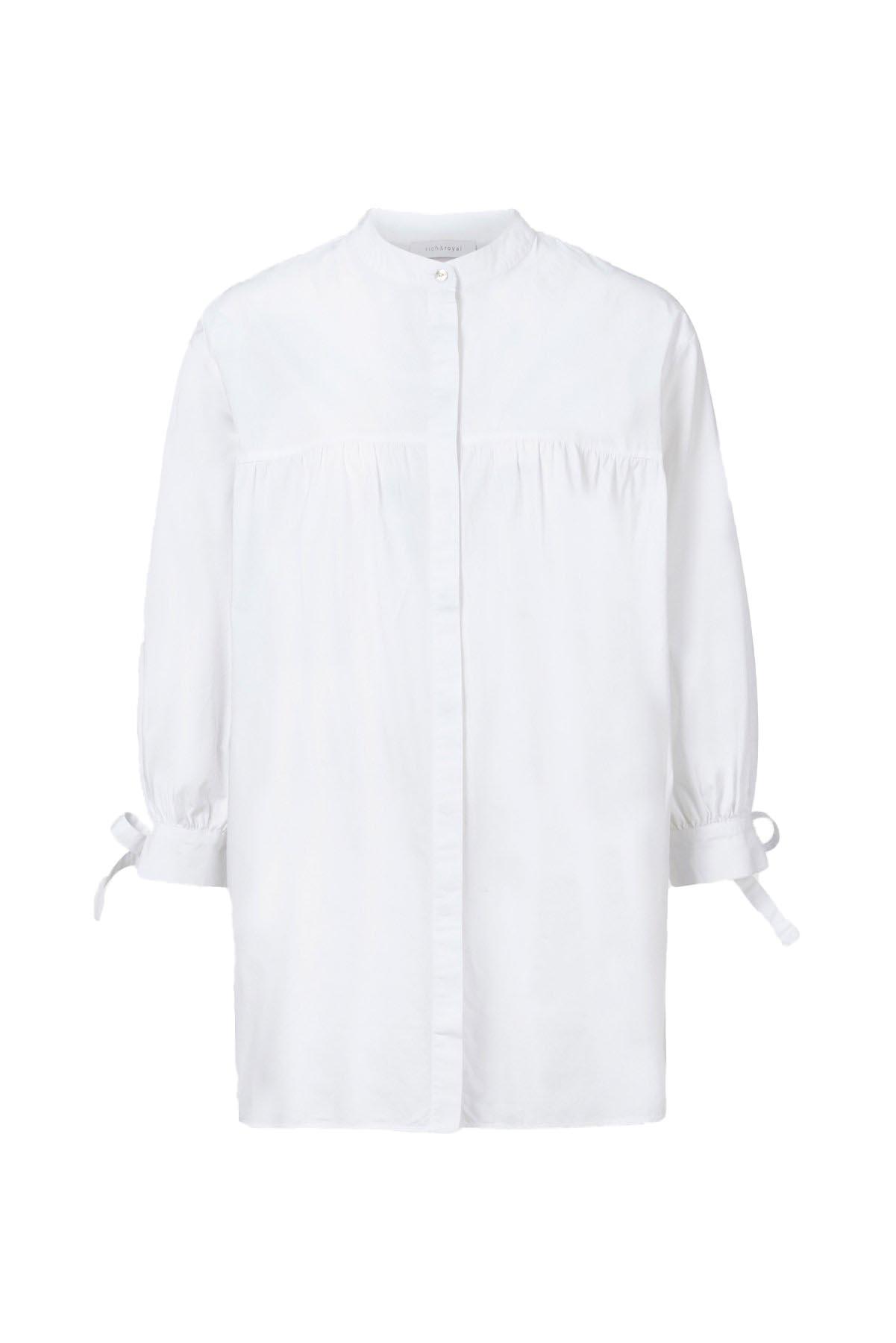 Oversize Bluse mit Bindeärmel