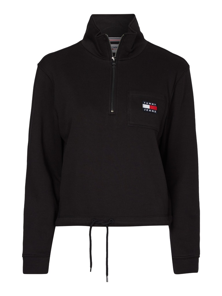 Relaxed Badge Zip Sweater