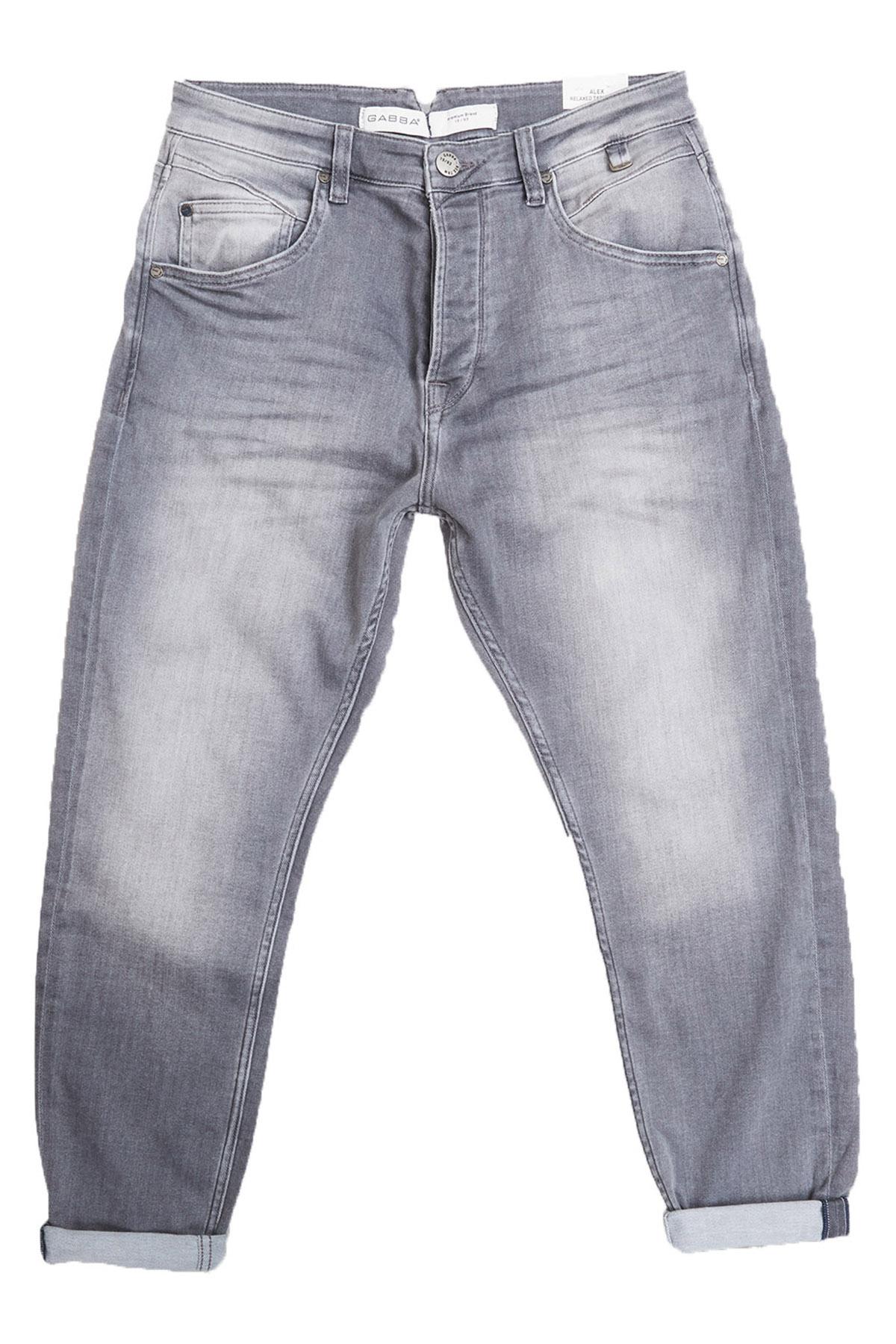 """Tapered Fit Jeans """"Alex""""K3820 Sanza Grey"""