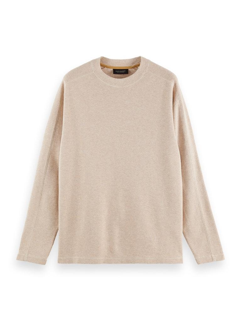 Pullover aus Bio-Baumwolle mit Waffelstruktur