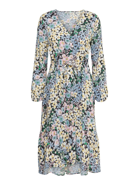 Viskose Kleid mit Blumendessin