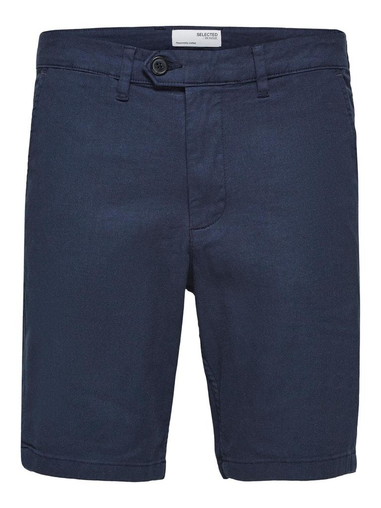 Slim Fit Leinen Shorts