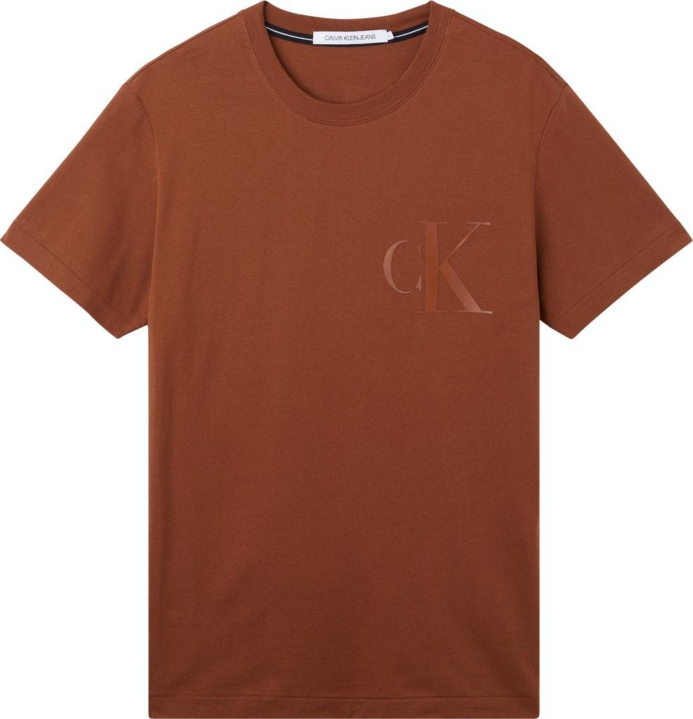 Leather Monogram Tee