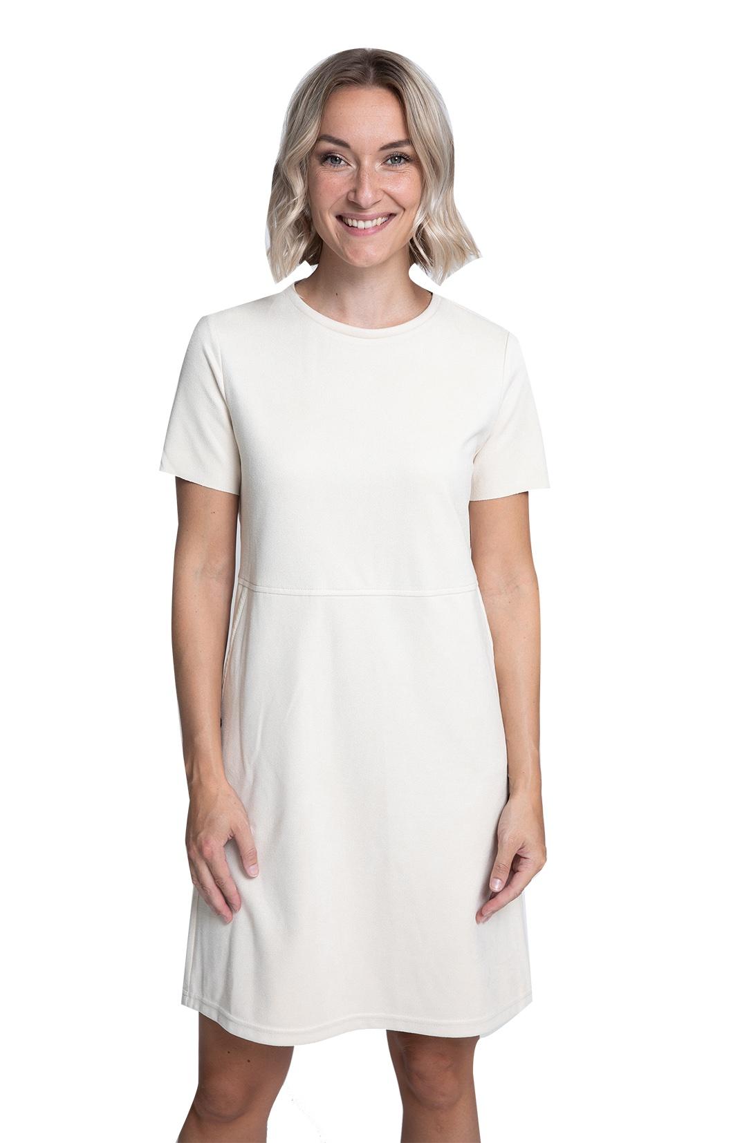 Lässiges Kleid mit Eingriffstaschen