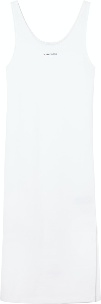 MICRO BRANDING STRAPPY RIB DRESS