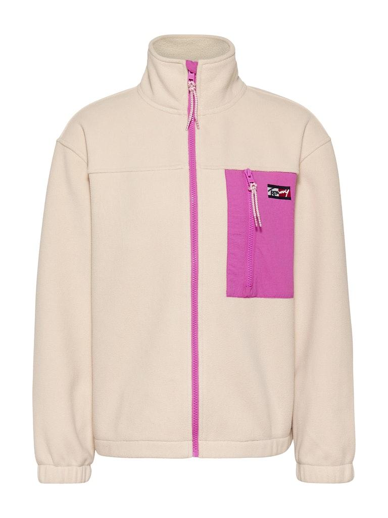 Oversize Sweatshirt-Jacke aus Fleece