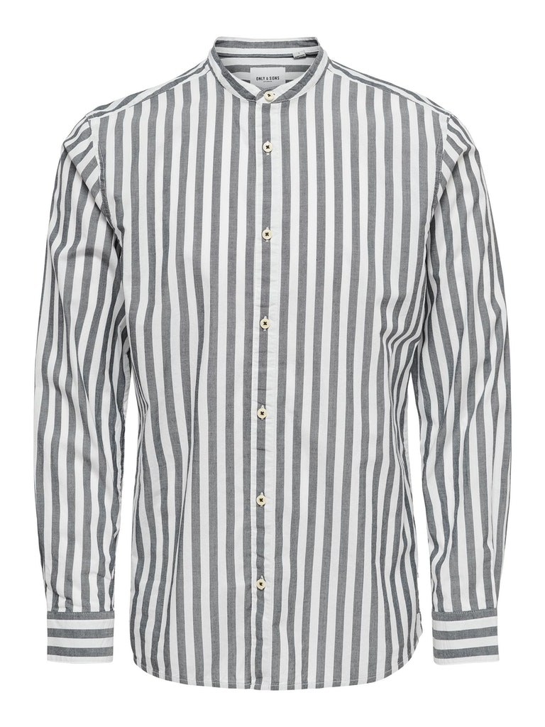 Hemd mit kontrastfarbigen Streifen