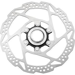 Тормозной диск Shimano RT54, 160мм, C.Lock, внешн. Шлицы стоп. кольца для пласт колод