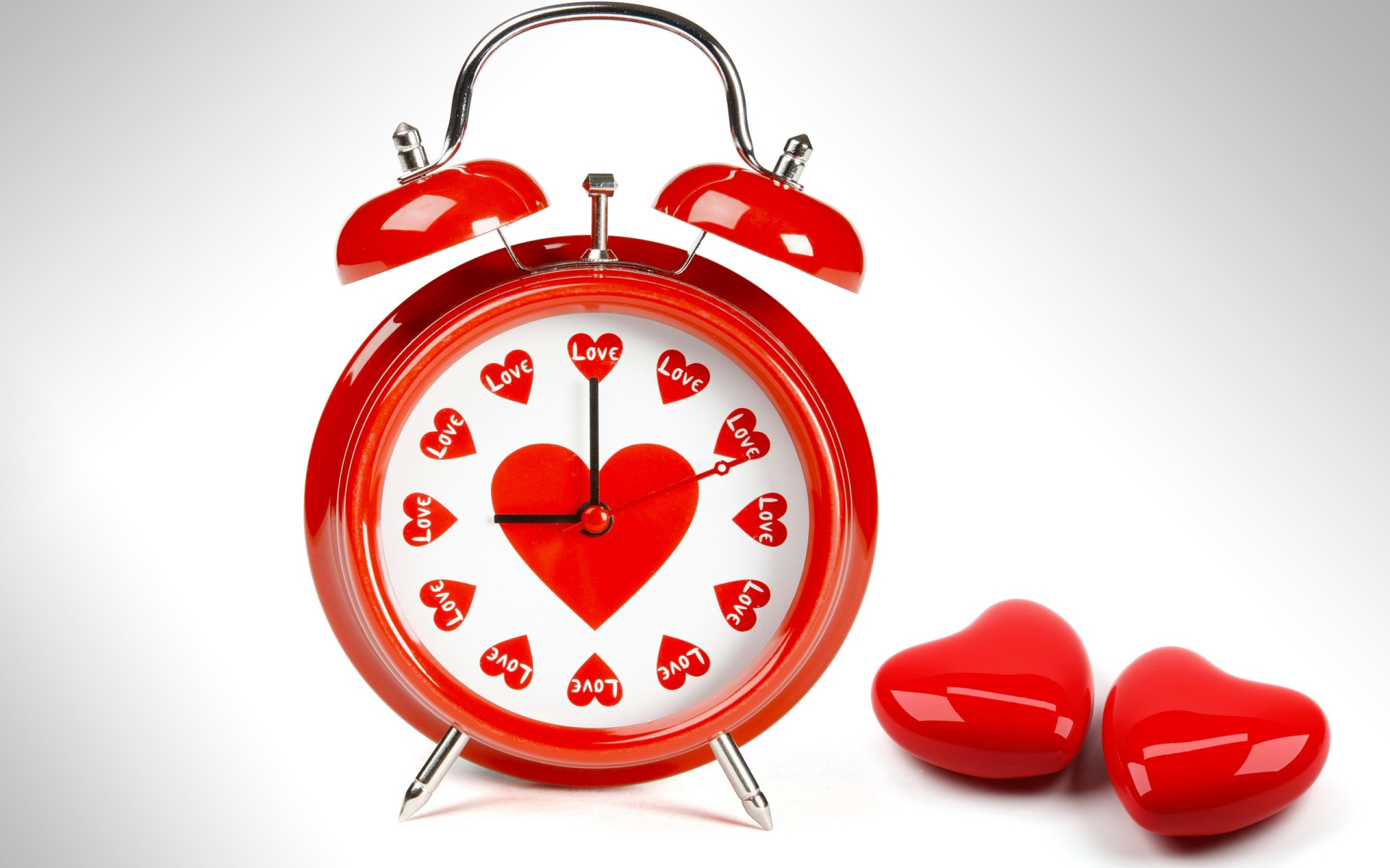 alarm clock heart love red x