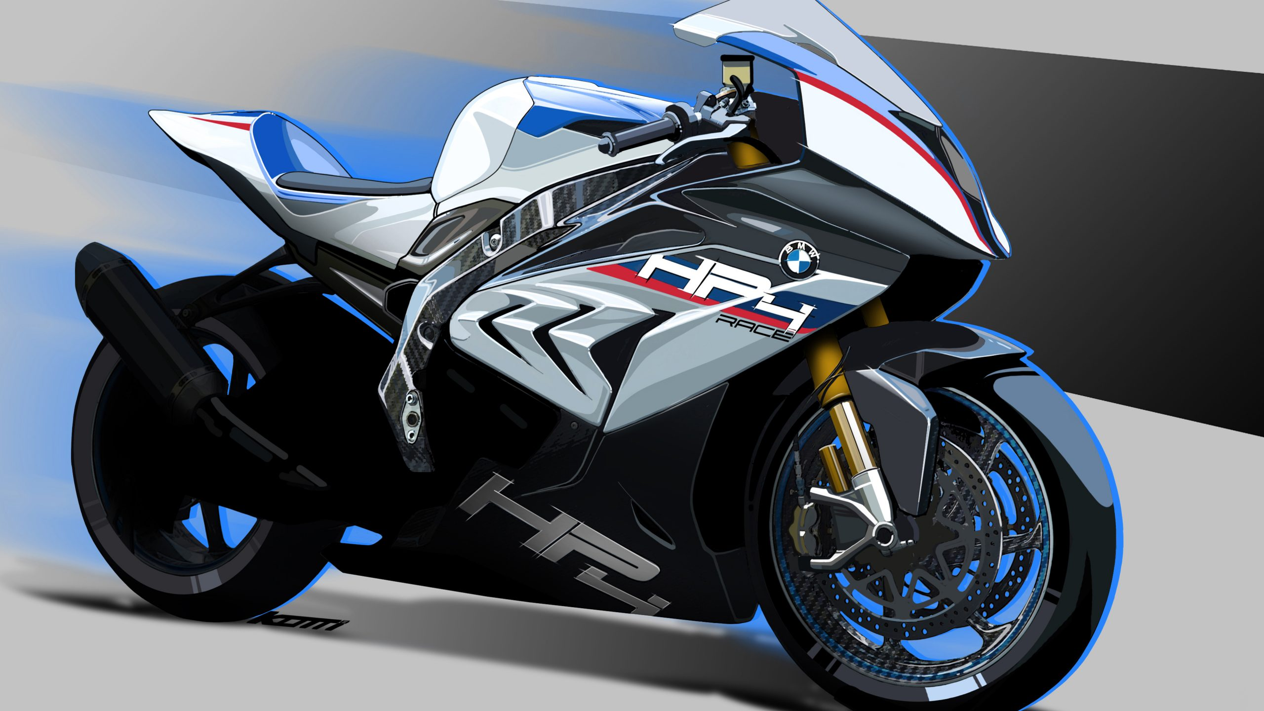bmw hp4 race prototype 4k