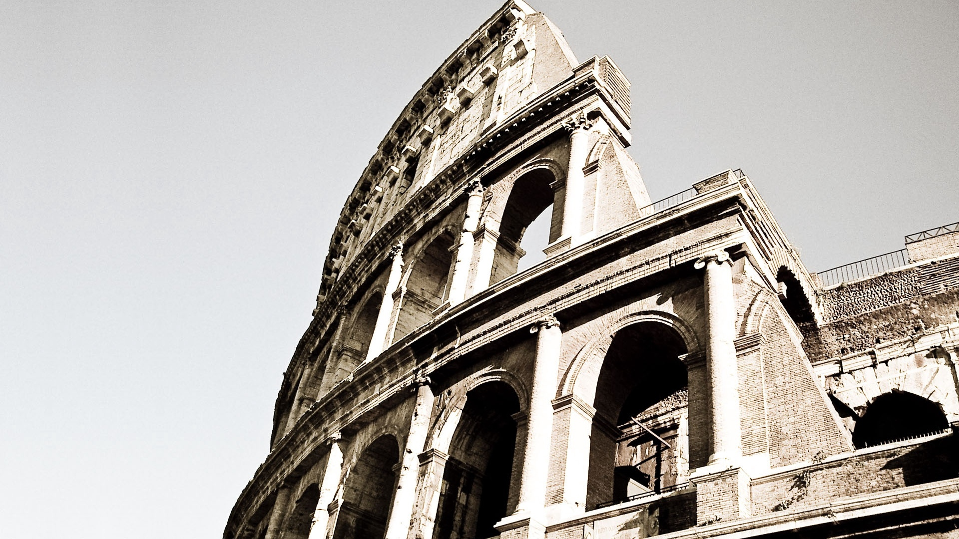 colosseum rome italy black white old x