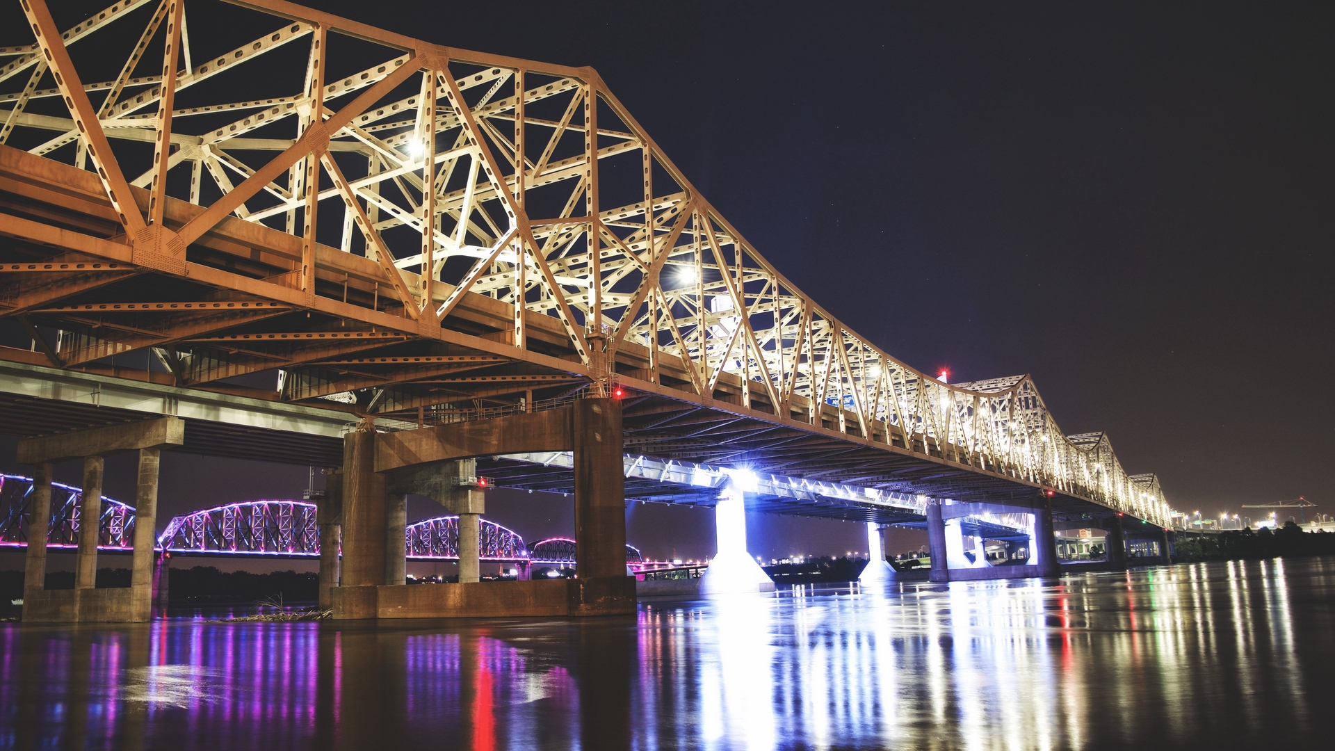 great bridge louisville usa night x