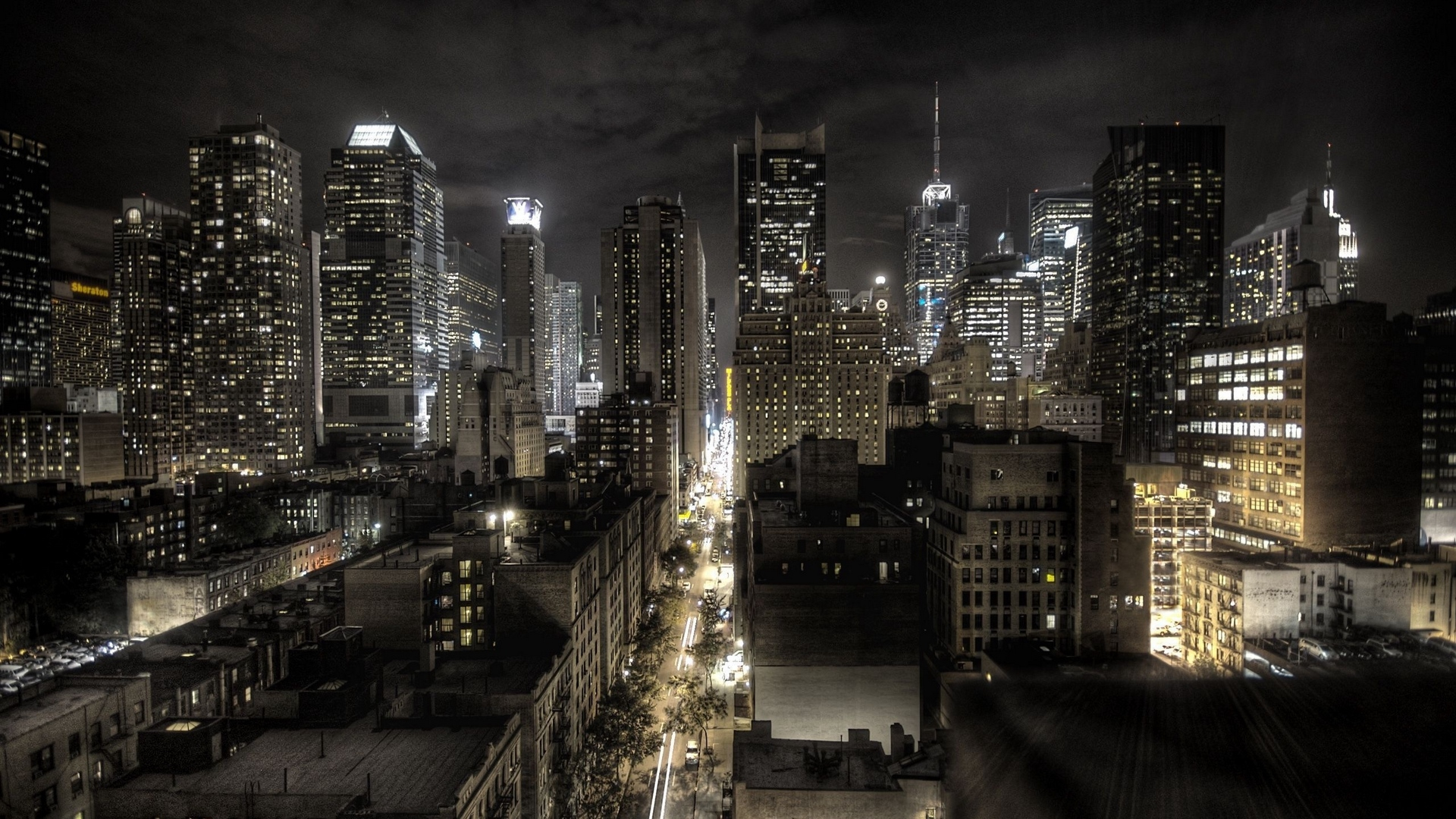 new york united states of america night top view hdr x