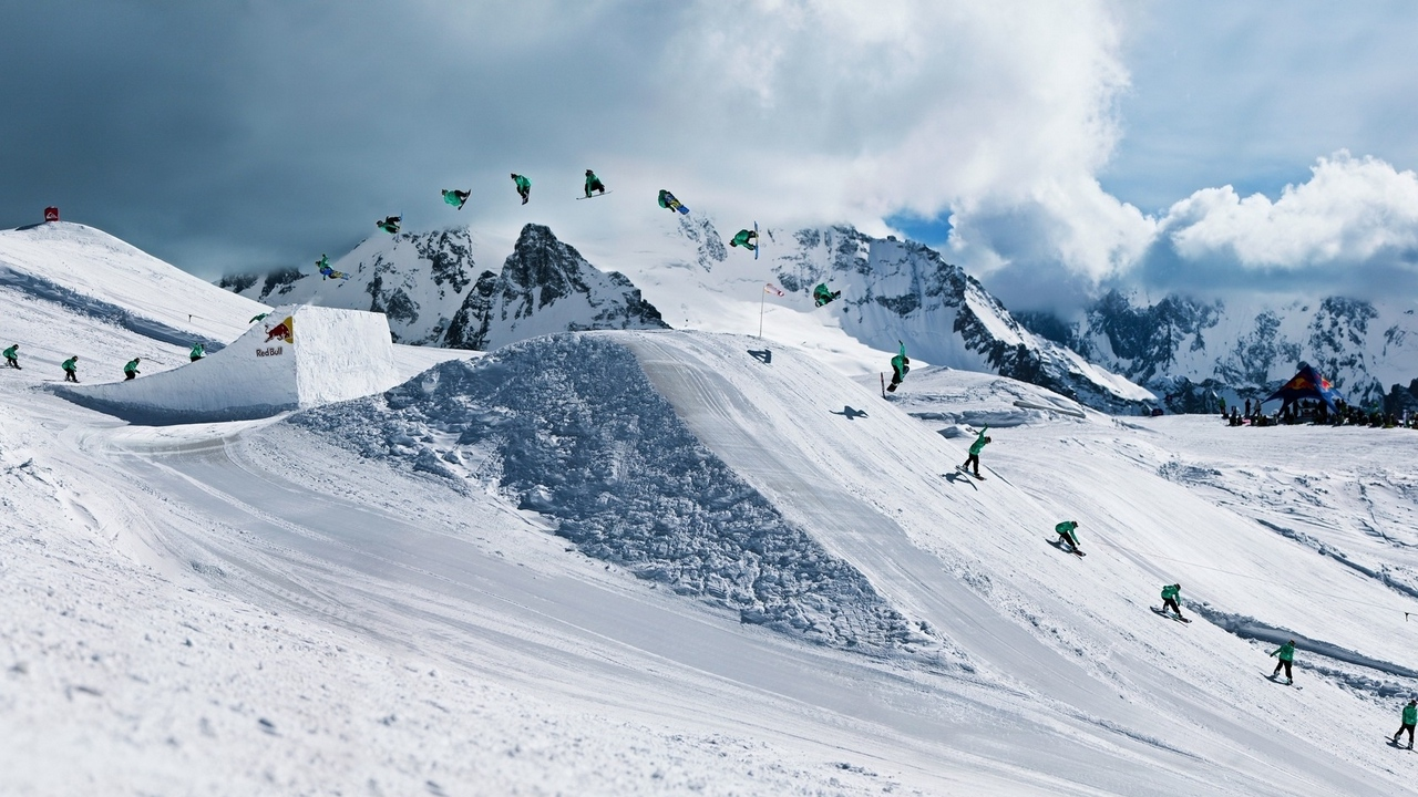 snowboarding red bull trick quiksilver x