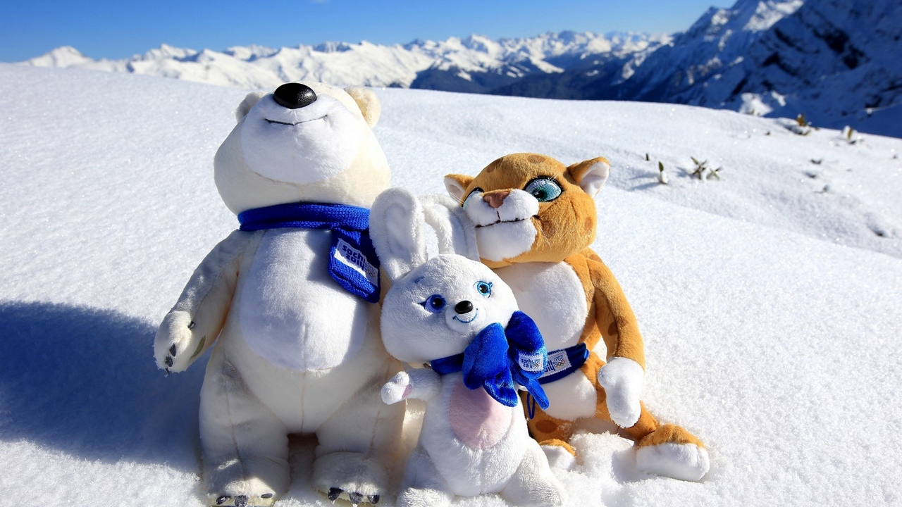 sochi mountain snow olympic mascots x