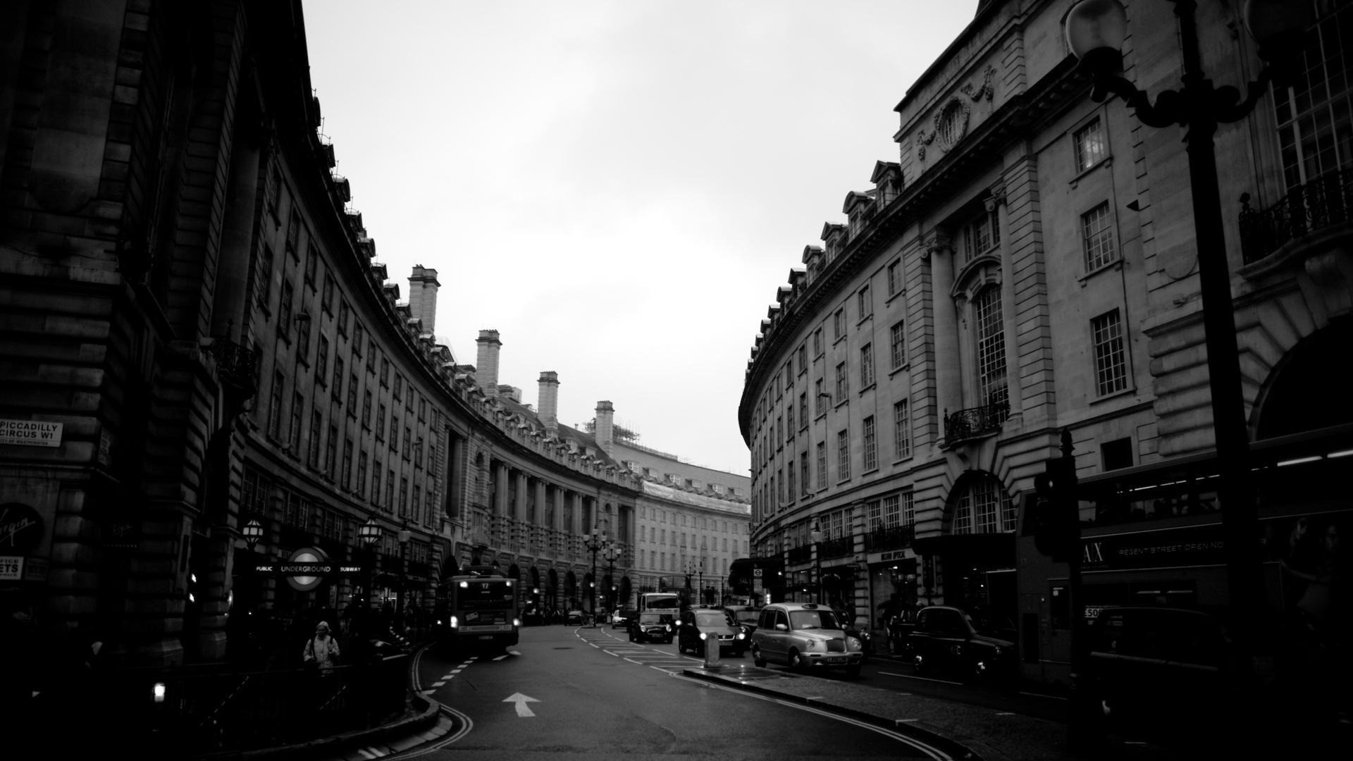 street night evening black and white building x