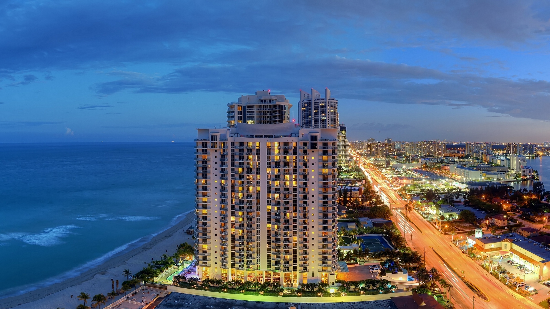 sunny isles beach miami florida panorama atlantic coast city nightlife x