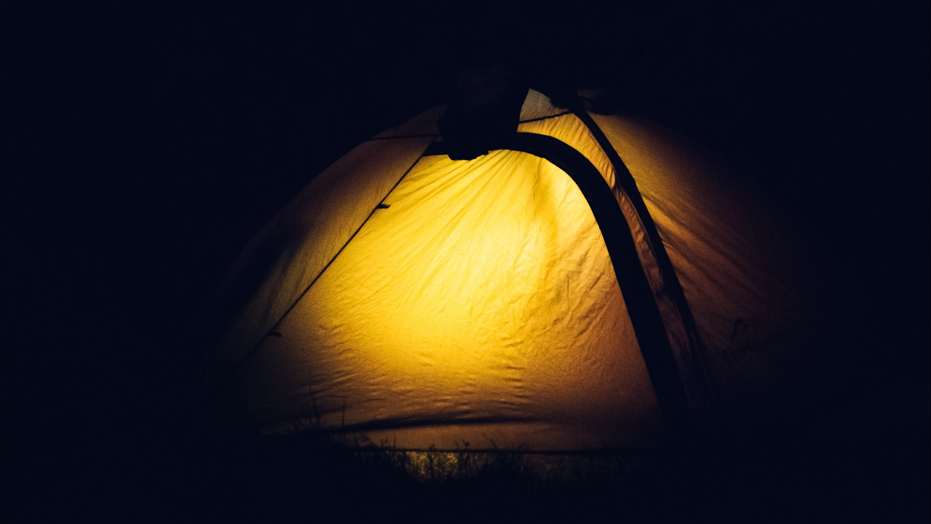 tent light night x