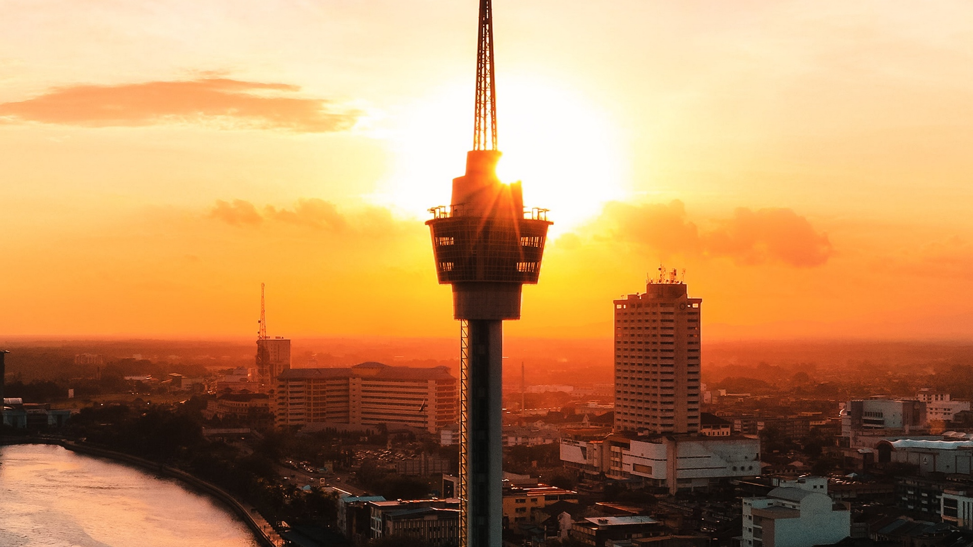 tower city sunset x