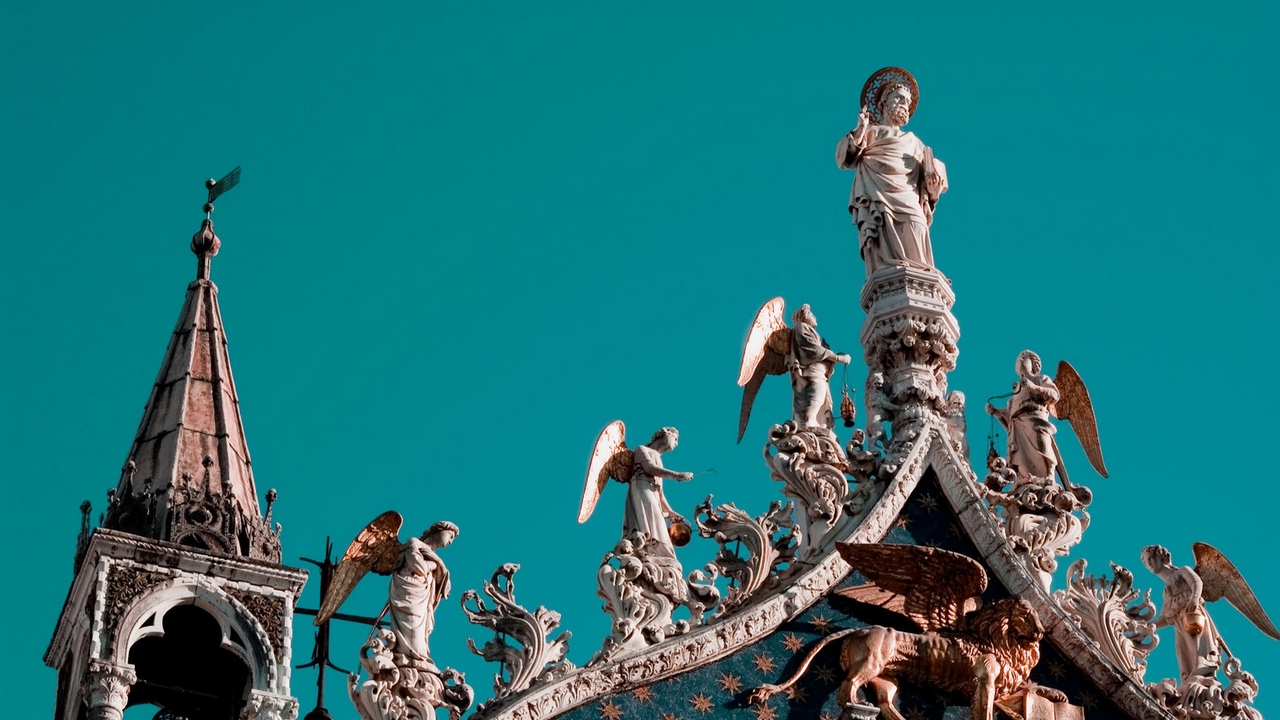 venice statues roof architecture angels heaven x