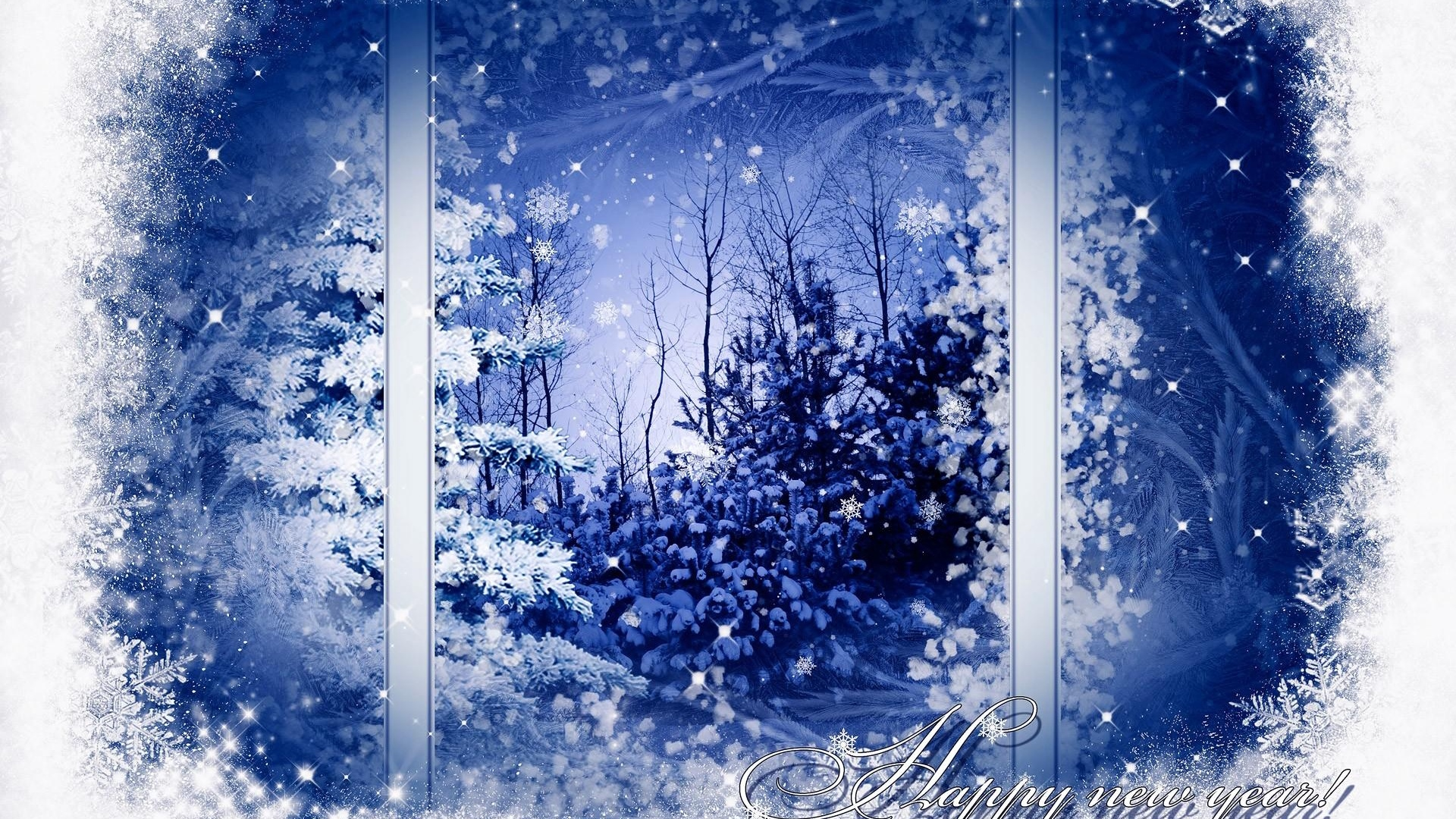window snow landscape trees sign x
