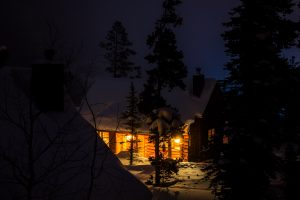 house night forest Hd Wallpaper