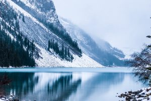 lake mountain fog Hd Wallpaper