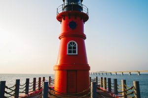 lighthouse sea pier Hd Wallpaper