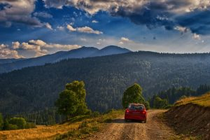 mountain road car landscape Hd Wallpaper