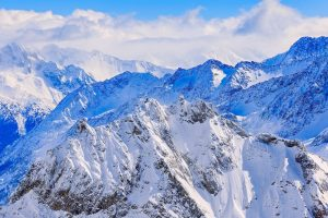 mountains peaks snowcovered Hd Wallpaper