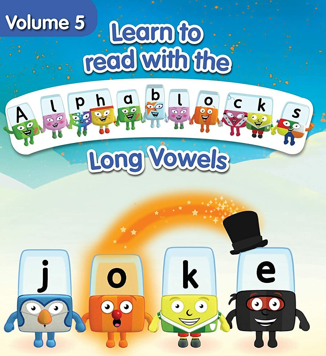 سلسلة صوتيات للاطفال تعليم اللغة الانجليزية المستوي الخامس – بدون موسيقى | Alphablocks – Long Vowels | Phonics | Level Five – No Music