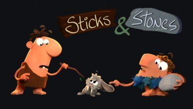 كرتون العصي والحجارة فيديو قصير للاطفال - بدون موسيقى | Sticks Stones By CGI - No Music