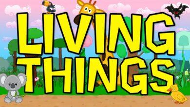 الكائنات الحية كلمات العلوم للأطفال بدون موسيقى | Living Things Science Song for Kids – No Music