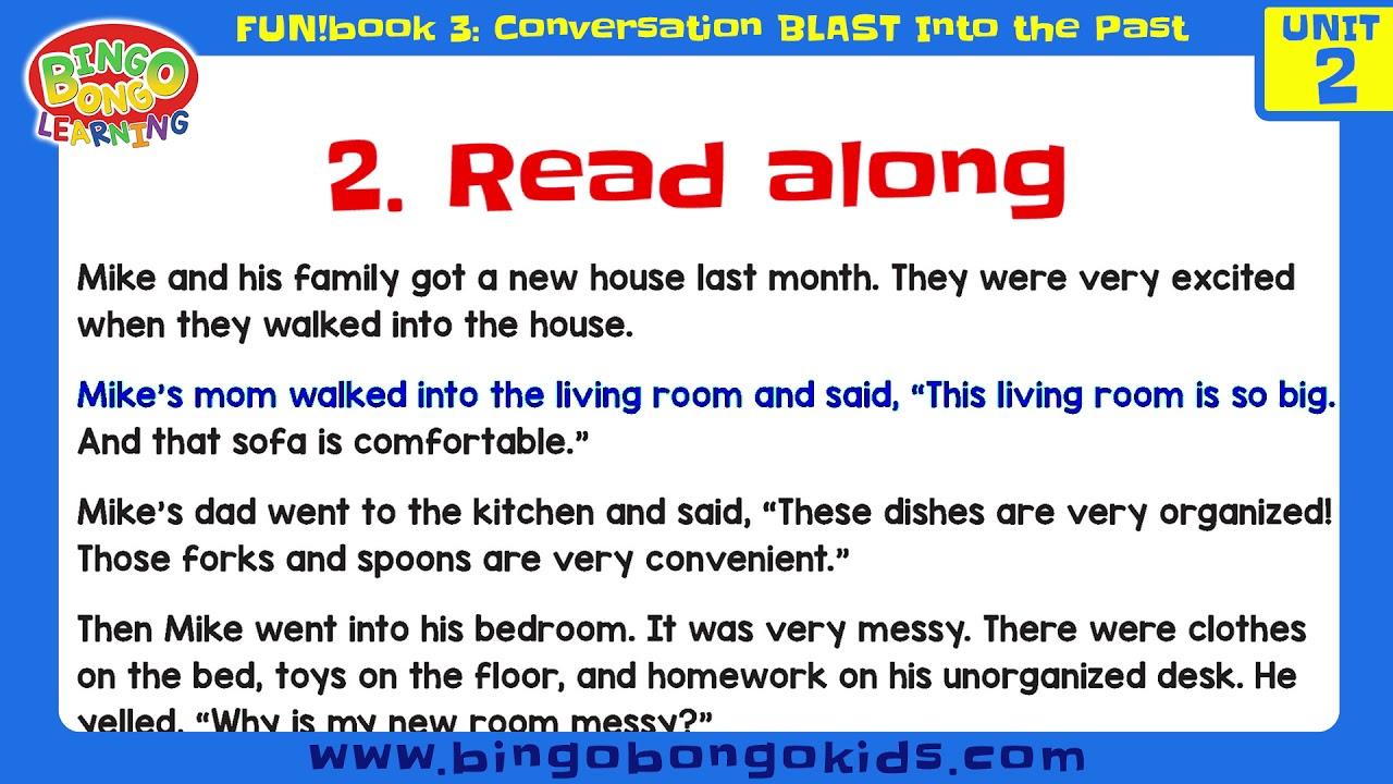 المستوى 3 – الوحدة 2 (المحادثة) – بدون موسيقى | Level 3 – Unit 2 (FUN!book 3 – Conversation Blast Into the Past) – No Music (4)