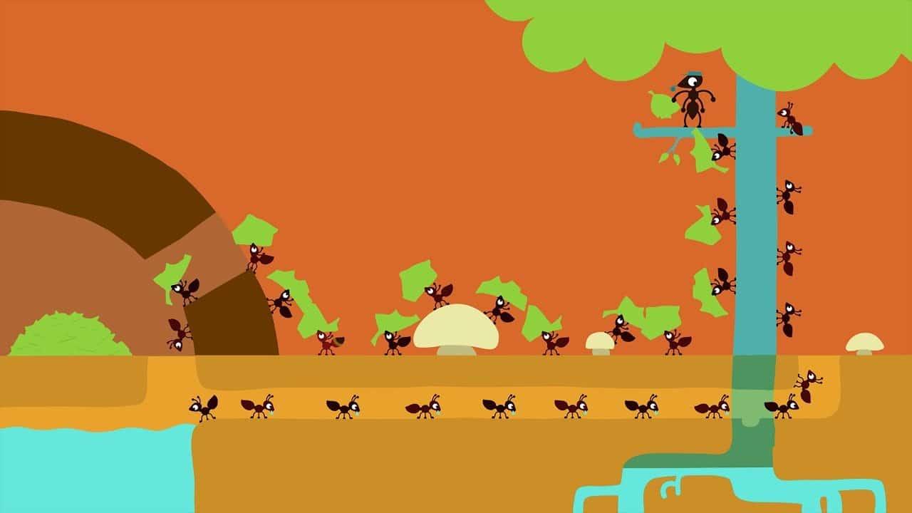 كرتون قصير ابداع النملة – بدون موسيقى | Animanimals: Ant – No Music (1)