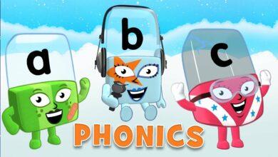 بدون موسيقى – صوتيات لغة انجليزية تدريب علي القراءة | Phonics, Words Beginning With – No Music