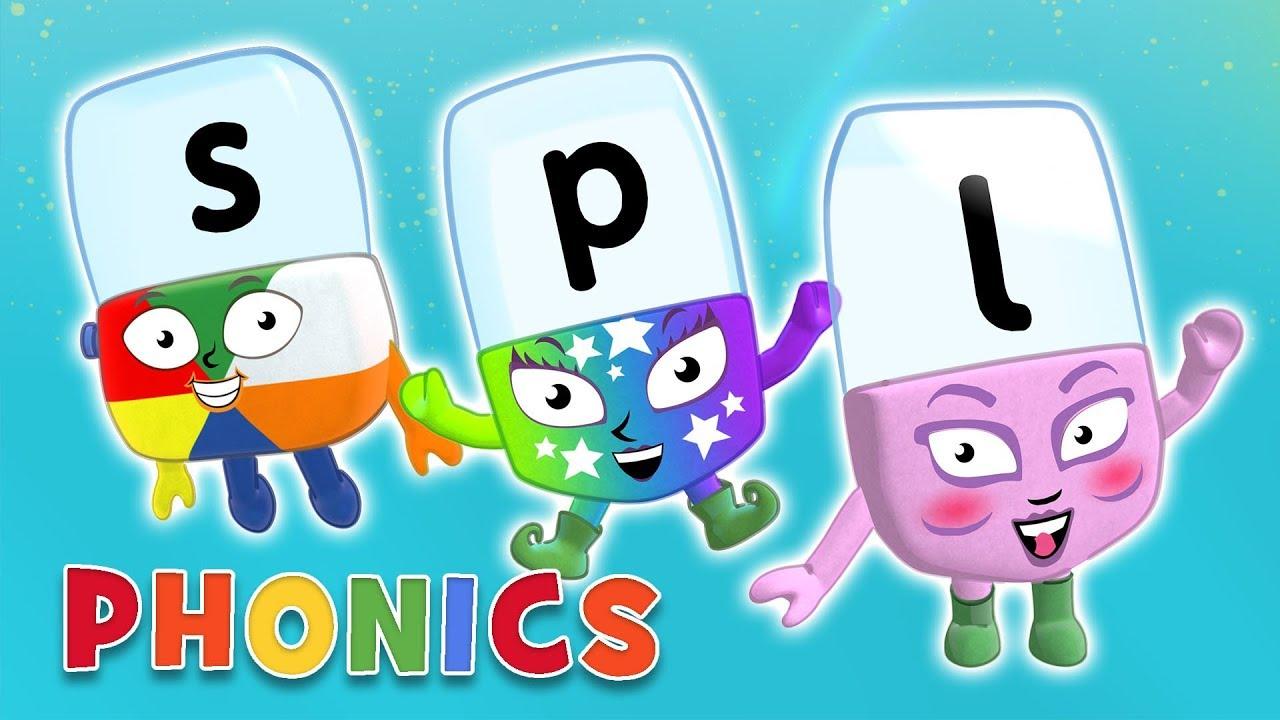 سلسلة تعلم الحروف الممزوجة للاطفال المستوي 4 – بدون موسيقى | Alphablocks – Letter Blends | Phonics | Level Four – No Music