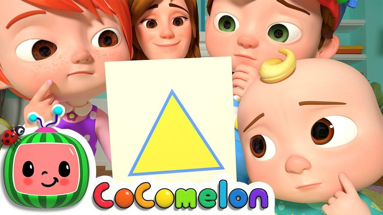اطفال – اغاني لغة انجليزية – تعليم الأشكال والألوان – بدون موسيقى | Shapes, Colors by CoComelon – No Music