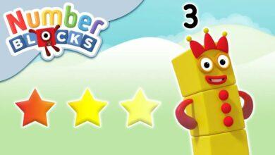 Numberblocks - الأرقام 1 2 3 | تعلم العد بدون موسيقى | Numberblocks - The Numbers 1 2 3 | Learn to Count No Music (16 فيديو)