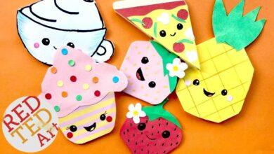 5 زوايا مرجعية للطعام من Kawaii - الأناناس ، البيتزا ، الكب كيك ، الفراولة ، فنجان القهوة المرجعية بدون موسيقى | 5 Kawaii FOOD Bookmark Corners - Pineapple, Pizza, Cupcake, Strawberry, Coffee Cup Bookmark DIYs No Music