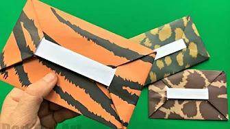 من السهل تعلم اوريغامي DIY تعليمي - كيفية جعل مغلف - لا الغراء بدون موسيقى | Easy Origami Envelope Tutorial DIY  - How to make an Envelope - NO GLUE No Music