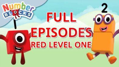 Numberblocks - المستوى الأحمر 1 | #LearningFromHome بدون موسيقى | Numberblocks - RED LEVEL 1 | #LearningFromHome No Music (7 فيديو)