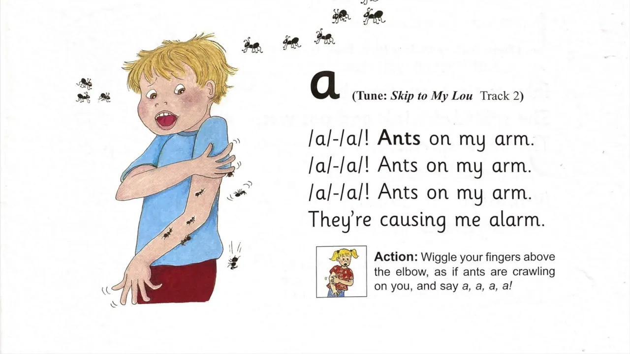 أغاني وأعمال جولي فونيكس بدون موسيقى | Jolly Phonics Songs and Actions No Music