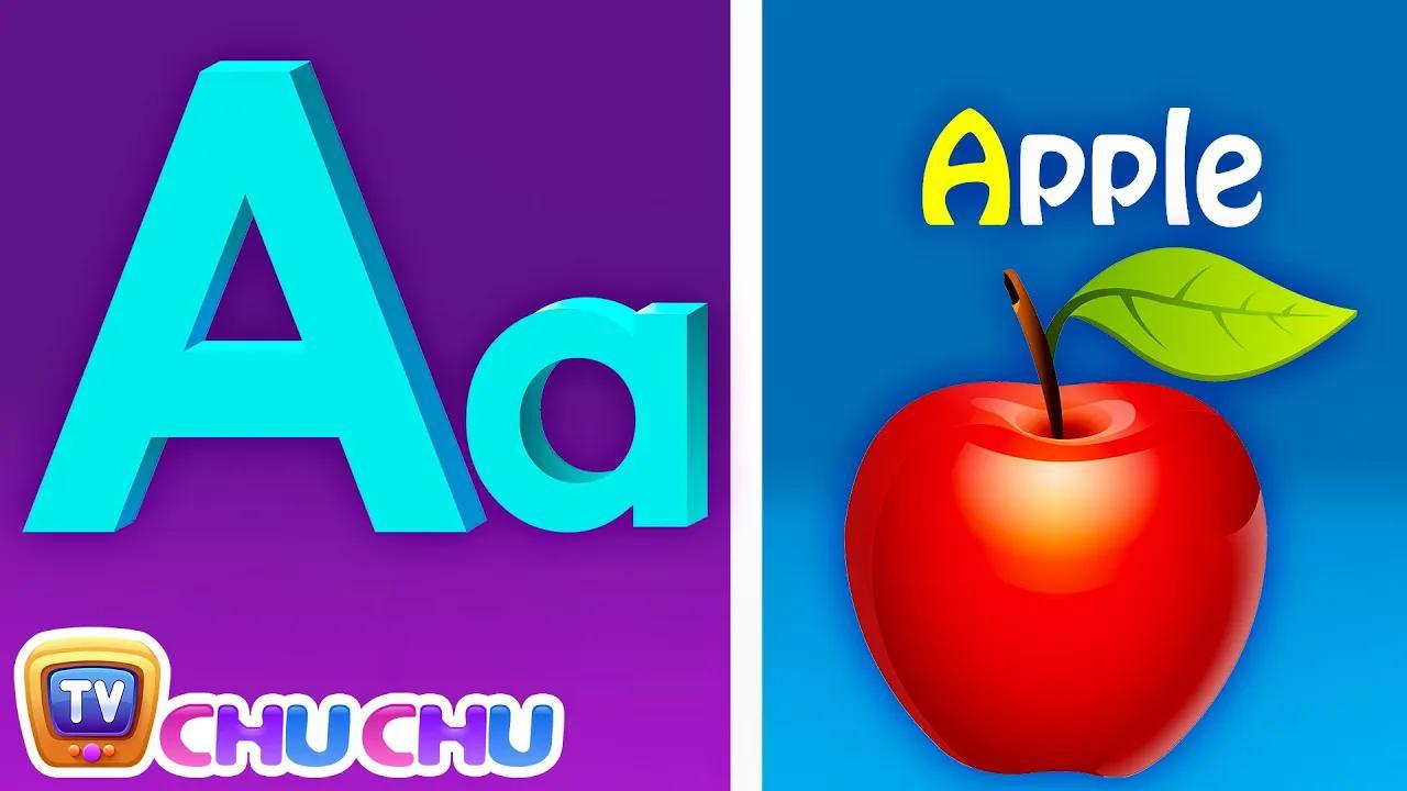 أغنية صوتية مع كلمتين - A لأبل - أغاني الأبجدية ABC مع أصوات للأطفال بدون موسيقى | Phonics Song with TWO Words - A For Apple - ABC Alphabet Songs with Sounds for Children No Music