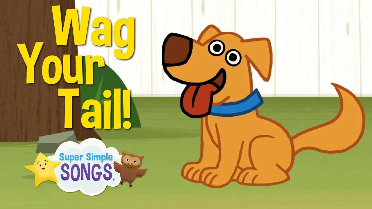 هز ذيلك | أغنية فعل الحيوان | أغاني سوبر بسيطة بدون موسيقى | Wag Your Tail | Animal Action Verb Song | Super Simple Songs No Music