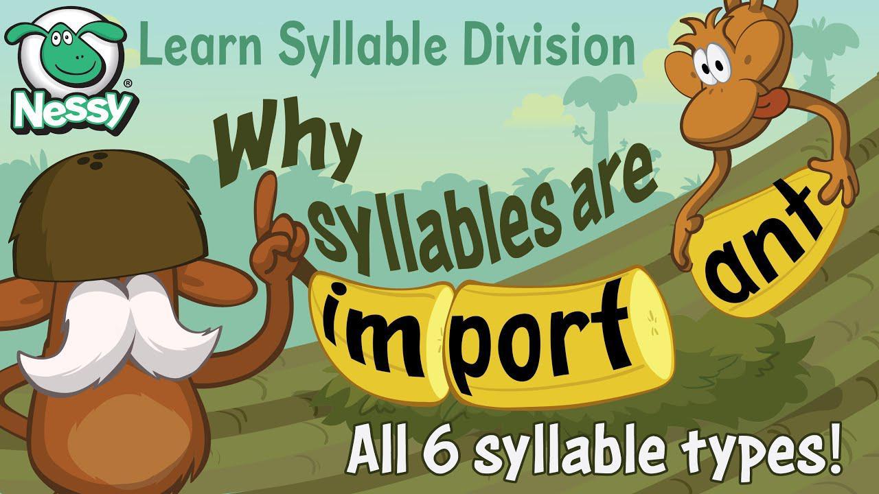 قسم مقطع لفظي | تعلم القواعد الست للمقاطع | تقطيع الكلمات | تعلم القراءة بدون موسيقى | Syllable Division | Learn the six rules of syllables | Chunking words | Learn to Read No Music