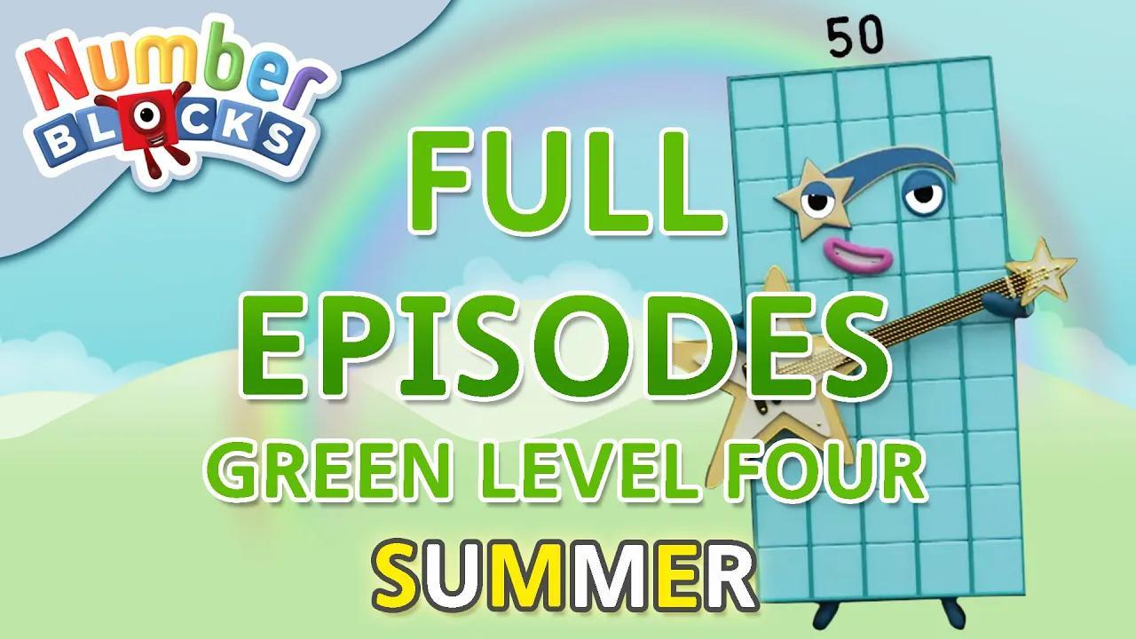 # كتل التعلم الصيفية - المستوى الأخضر الرابع | حلقات كاملة 4-5 | تعلم العد #WithMe بدون موسيقى | #SummerLearning Numberblocks - Green Level Four | Full Episodes 4-5 | Learn to Count #WithMe No Music